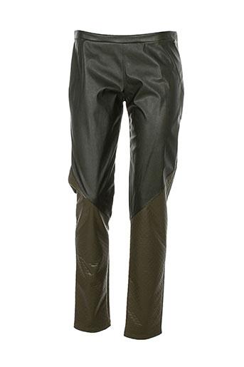 kali orea pantalons femme de couleur vert