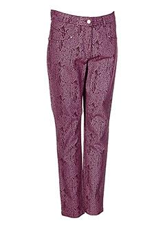 Pantalon casual rouge PAUL BRIAL pour femme