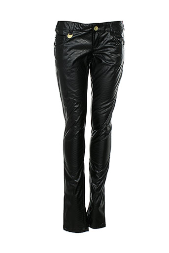 blue rags pantalons femme de couleur noir