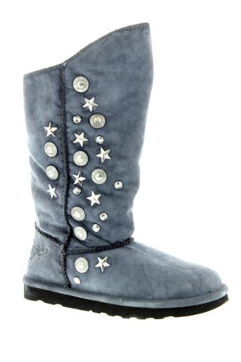 replay bottes femme de couleur bleu