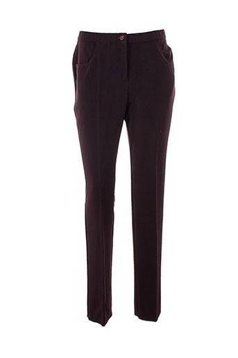 gevana pantalons femme de couleur violet