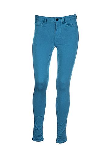 pieces pantalons et decontractes femme de couleur bleu
