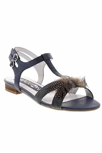 madison sandales et nu et pieds femme de couleur bleu