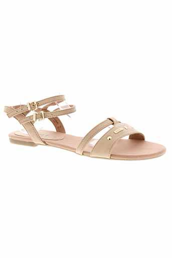 esprit sandales et nu et pieds femme de couleur beige