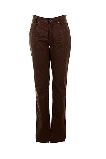 summum pantalons femme de couleur marron