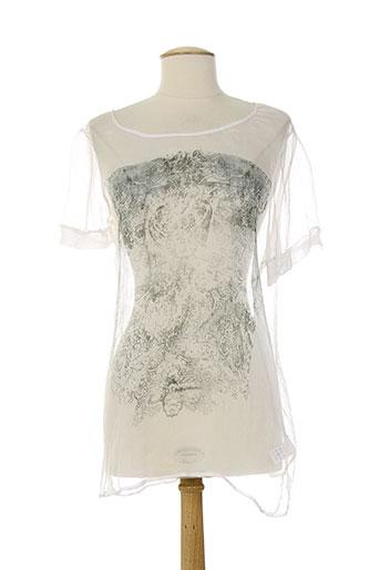 ninati chemises femme de couleur blanc
