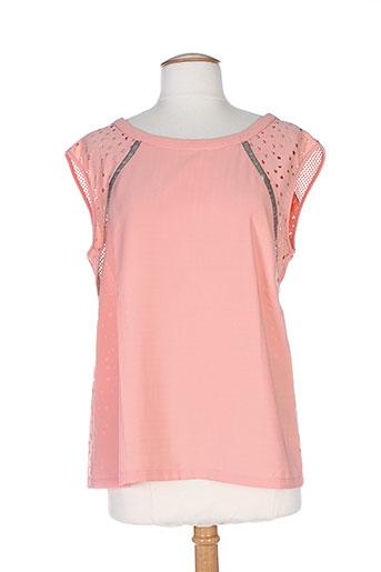 color block chemises femme de couleur orange