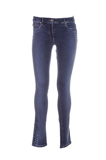 was jeans femme de couleur bleu
