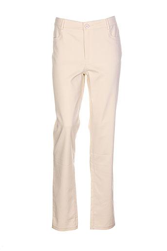 bariloche pantalons femme de couleur beige