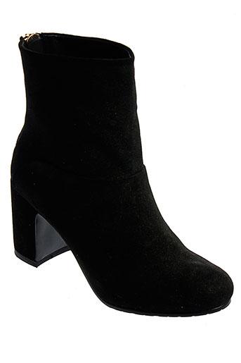 lola et cruz bottines femme de couleur noir