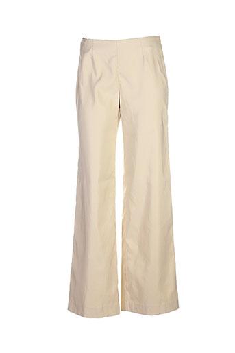 bleu blanc rouge pantalons femme de couleur beige