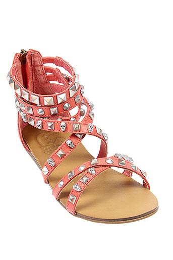 ash sandales et nu et pieds fille de couleur orange