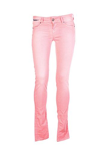 sixty et seven pantalons et decontractes femme de couleur rose