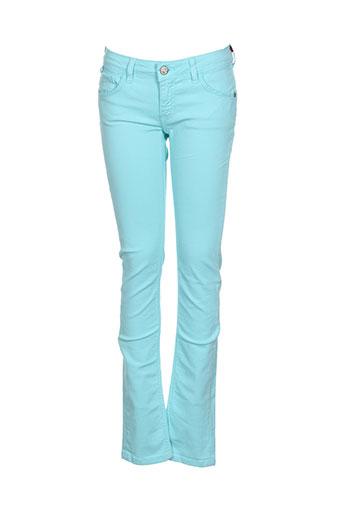 chipie pantalons fille de couleur bleu