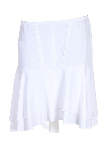 tricot chic jupes femme de couleur blanc