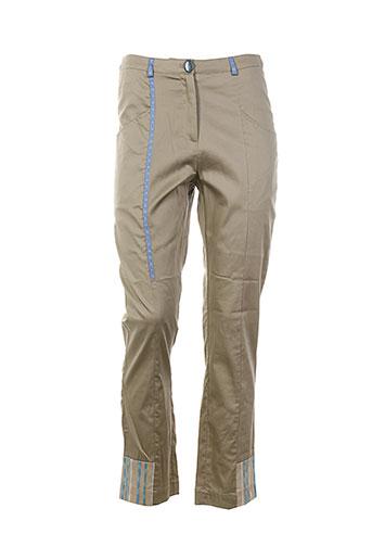 femme by michele rossi pantalons femme de couleur beige