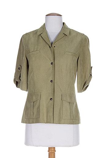 concept k chemises femme de couleur vert