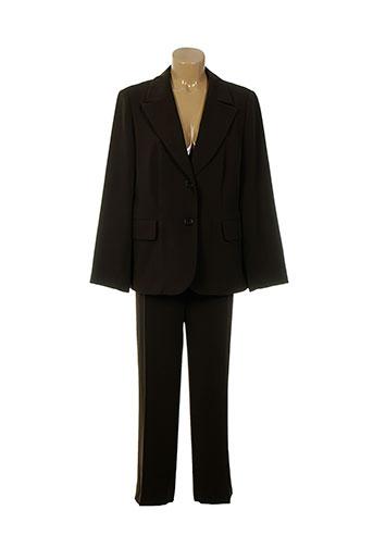 mafecco pantalon et veste femme de couleur marron