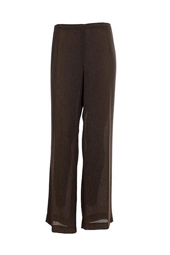 villa bleue pantalons femme de couleur marron