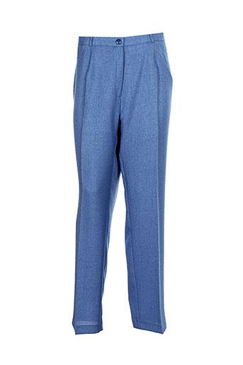 sommermann pantalons et citadins femme de couleur bleu