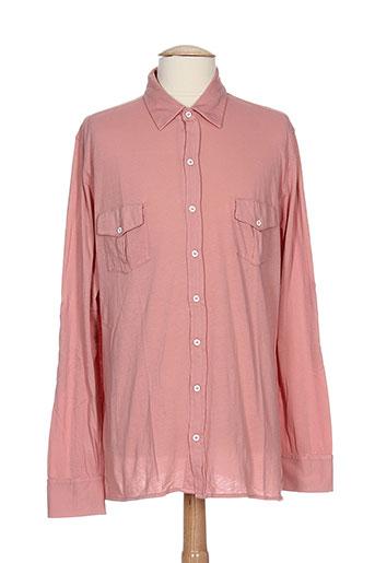 les garcons faciles chemises homme de couleur rose