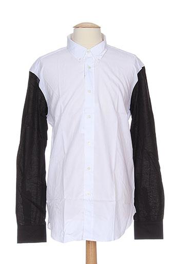 department five chemises homme de couleur blanc