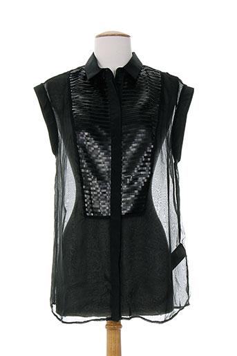 costume nemutso chemises femme de couleur noir