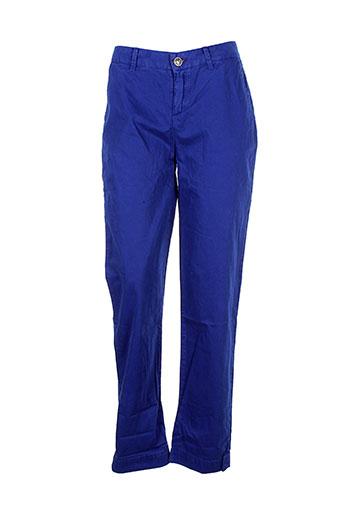 little marcel pantalons femme de couleur bleu