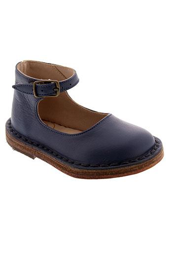 pepe chaussures fille de couleur bleu