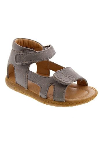 pom et d et api sandales et nu et pieds fille de couleur gris