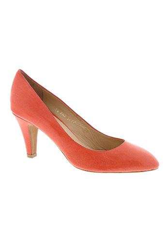 paco et herrero escarpins femme de couleur orange