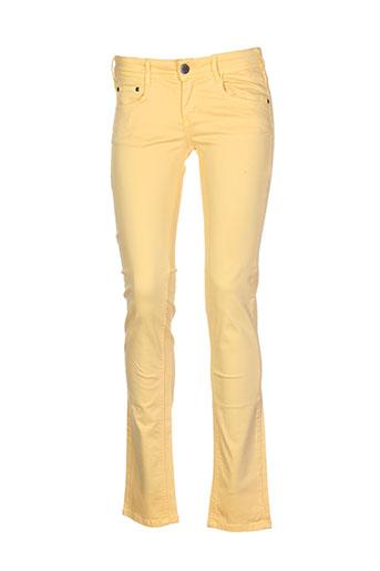 cimarron pantalons et decontractes femme de couleur jaune