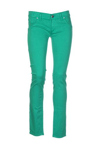 freesoul pantalons et decontractes femme de couleur vert