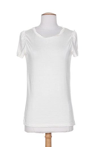 mexx t-shirts femme de couleur blanc