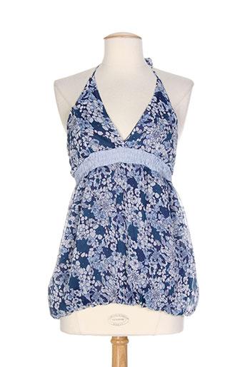 yes.zee chemises femme de couleur bleu