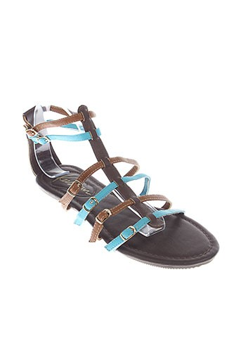 kustom sandales et nu et pieds femme de couleur marron
