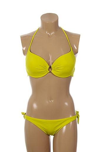 jolidon maillots de bain femme de couleur jaune