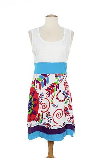coton du monde robes femme de couleur bleu