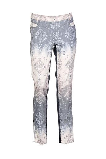 bocetto pantalons femme de couleur bleu