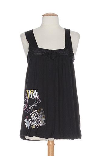 miss sidecar chemises femme de couleur noir