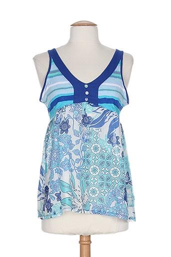 jocavi chemises femme de couleur bleu