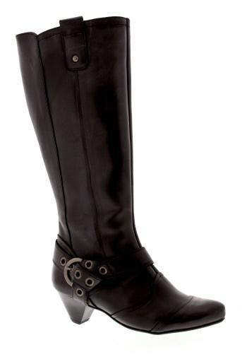connivence bottes femme de couleur noir