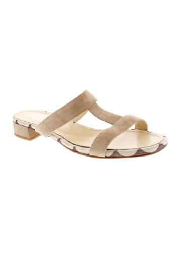 elizabeth et stuart sandales et nu et pieds femme de couleur beige