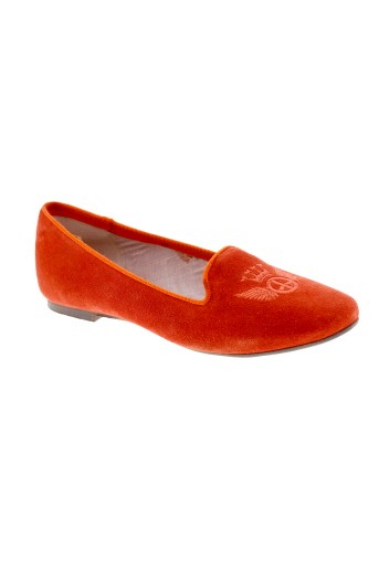 meline ballerines femme de couleur orange