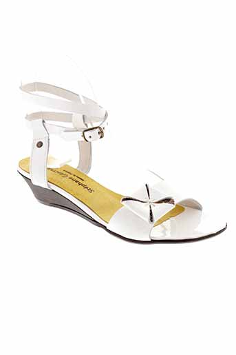 stephane gontard chaussures femme de couleur blanc
