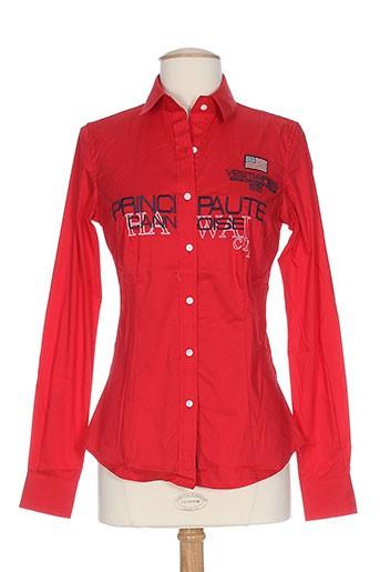 vestiaires principaute cannoise chemises femme de couleur rouge