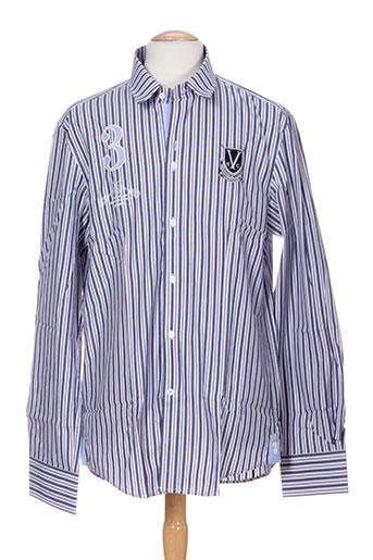 vestiaires principaute cannoise chemises homme de couleur bleu