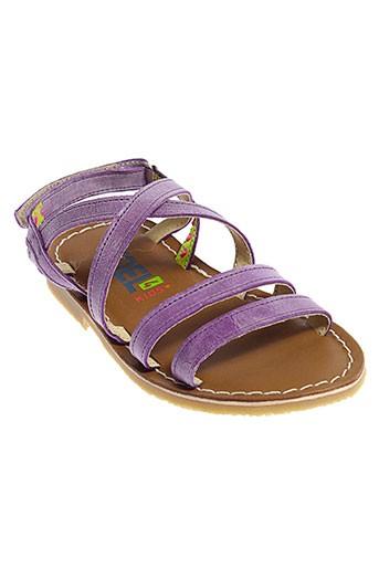 koel sandales et nu et pieds fille de couleur violet