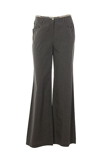 imprevu pantalons femme de couleur gris