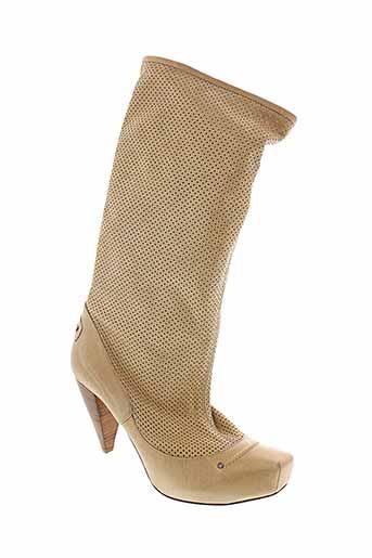 mac et collection bottes femme de couleur beige